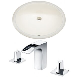 Great Price Ceramic Oval Undermount Bathroom Sink with Faucet and Overflow ByAmerican Imaginations