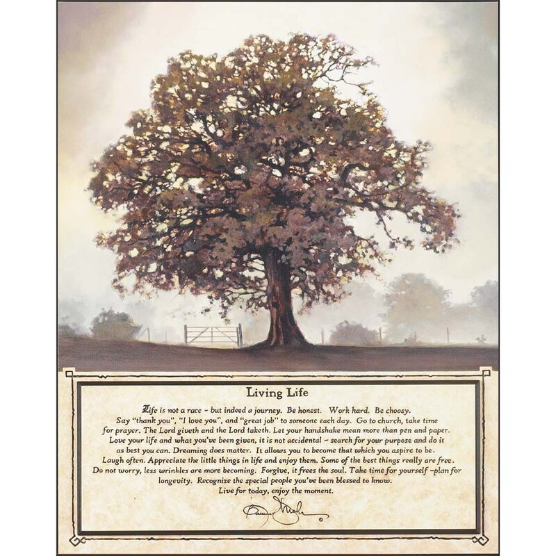 Living Life Bonnie Mohr Quote Adorable Dicksonsinc 'living Tree'bonnie Mohr Graphic Art Plaque