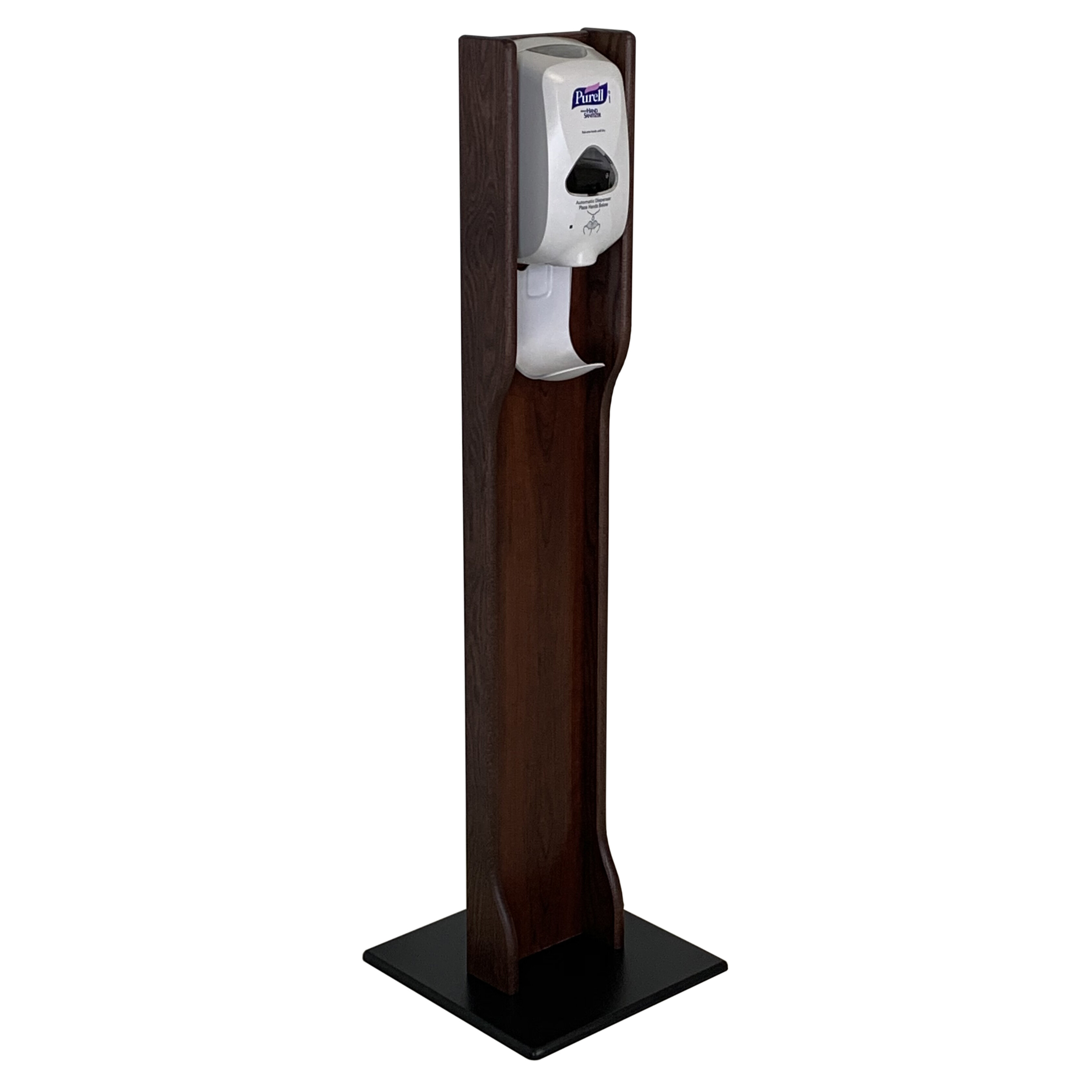 Wooden Mallet Hand Sanitizer Dispenser Stand Elegant Design In Mahogany Wayfair