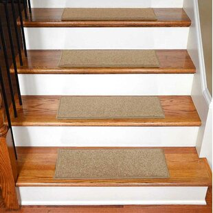 Bazemore Solid Color Non Slip Rubber Backed Stair Tread Set Of 7