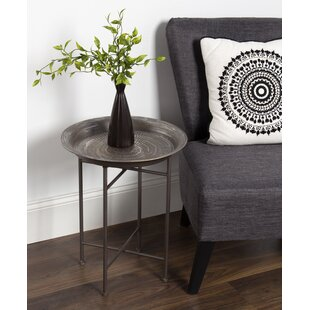 Silver Hammered Side Table Wayfair - Hammered silver side table