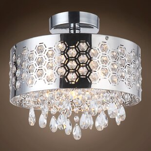 Everly Quinn Alexa 4-Light 40W Semi Flush Mount