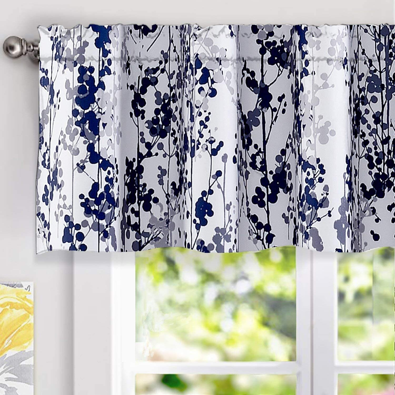 July Joy 3 Piece Cotton Kitchen Curtains And Valances Set For Small Windows Short Curtains 36 Inches Length For Cafe Bathroom Tab Top 56 X 36 Black Curtains Drapes Mesralyoum Tiers
