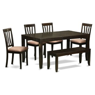 Lockmoor 6 Piece Solid Wood Dining Set