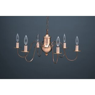 Kenisha Sockets S-Arms Hanging 6-Light Chandelier by Astoria Grand