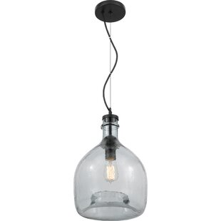 Crittenden 1-Light Jar Pendant by Breakwater Bay