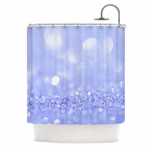 'Purple Violet Sparkle Glamour' Photography Single Shower Curtain