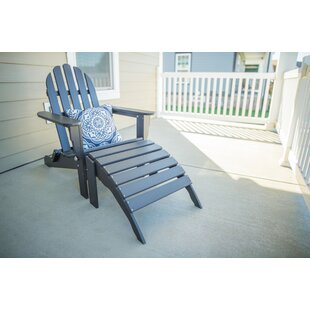 Madsen Plastic Folding Adirondack Chair with Ottoman