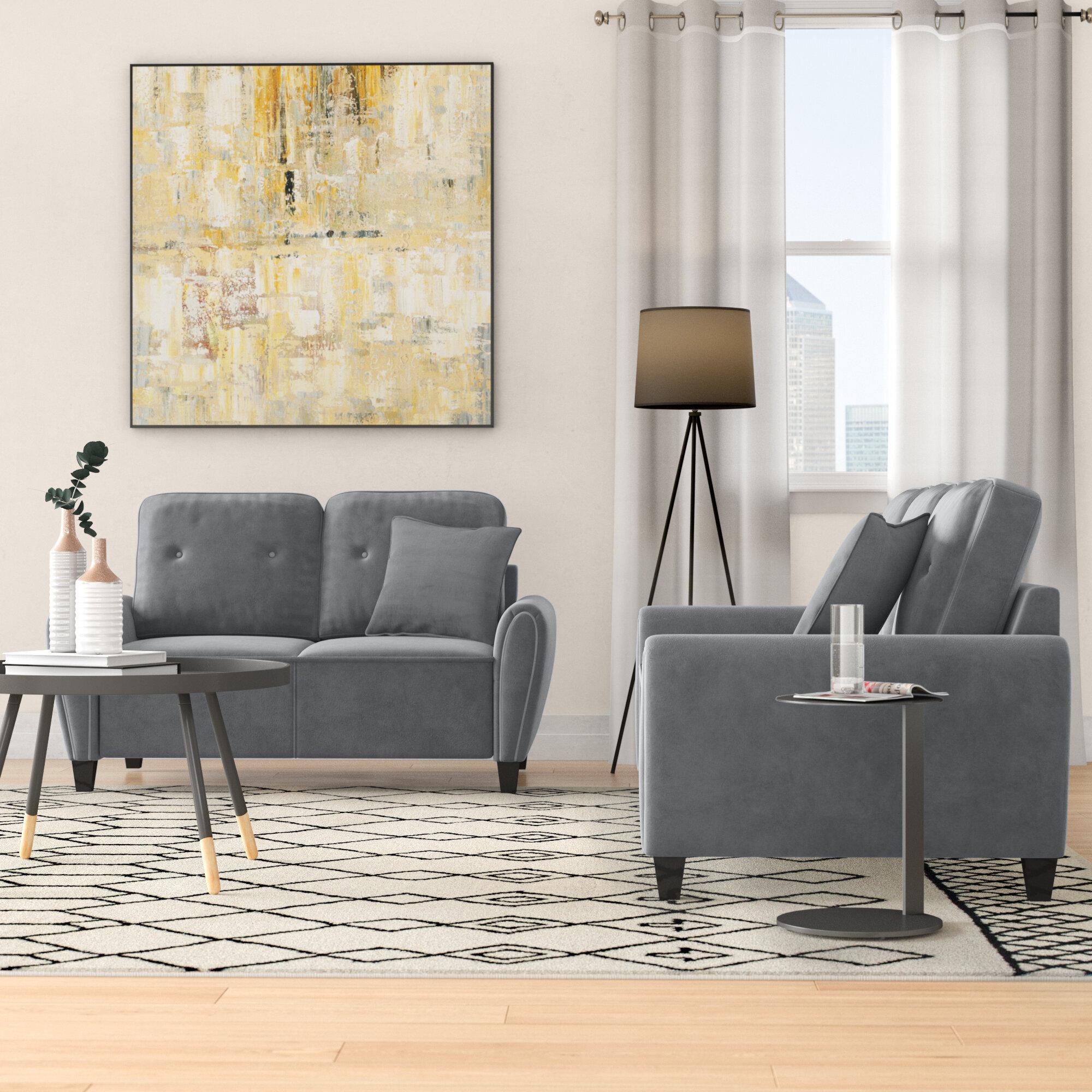 Wrought Studio Murrill 2 Piece Living Room Set Reviews Wayfair