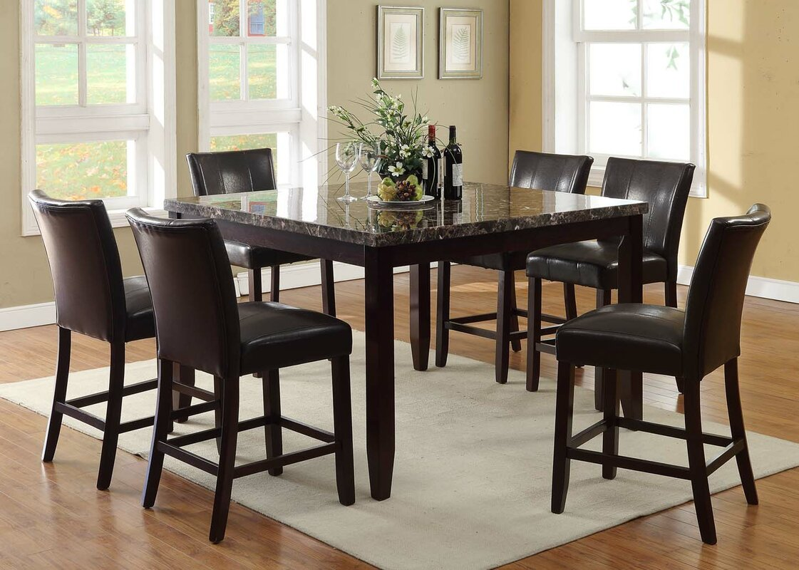 living in style harvard  piece counter height dining set  -   piece kitchen  dining room sets sku bvin defaultname