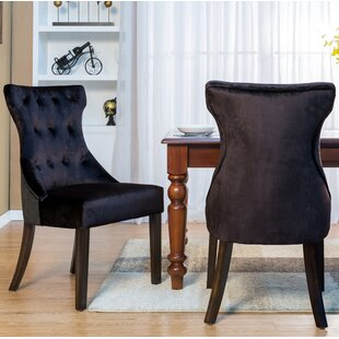 Delfin Button Tufted Upholstered Dining Chair (Set of 2)
