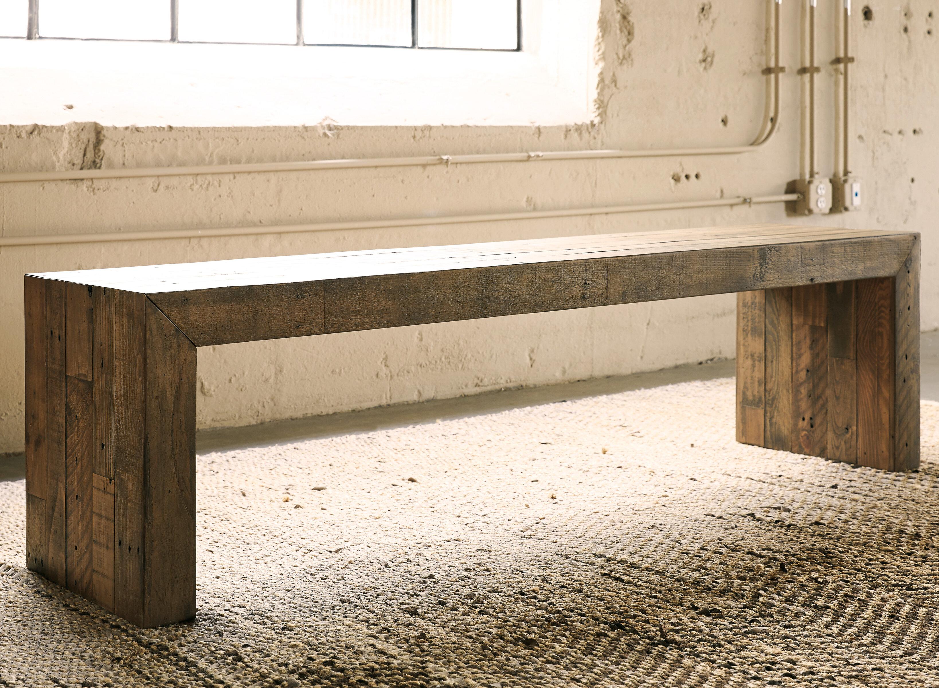 Gino Solid Wood Bench Reviews Joss Main