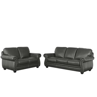 Darby Home Co Fairdale 2 Piece Leather Living Room Set