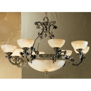 Classic Lighting Alexandria I 12-Light Shaded Chandelier