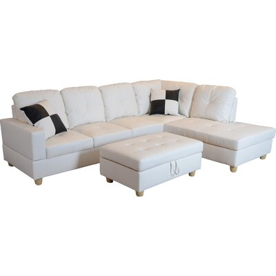 Marvelous Andover Mills Russ Sectional With Ottoman Upholstery Color Alphanode Cool Chair Designs And Ideas Alphanodeonline