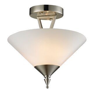 Abrielle 2-Light Semi Flush Mount by Ivy Bronx