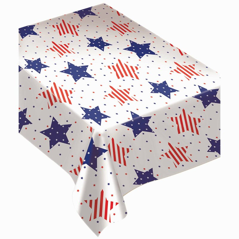 Amscan Patriotic American Classic Flannel Backed Vinyl