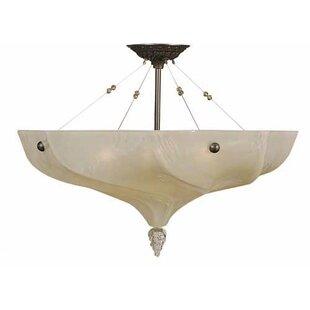 Tipler 3-Light Semi Flush Mount by Winston Porter
