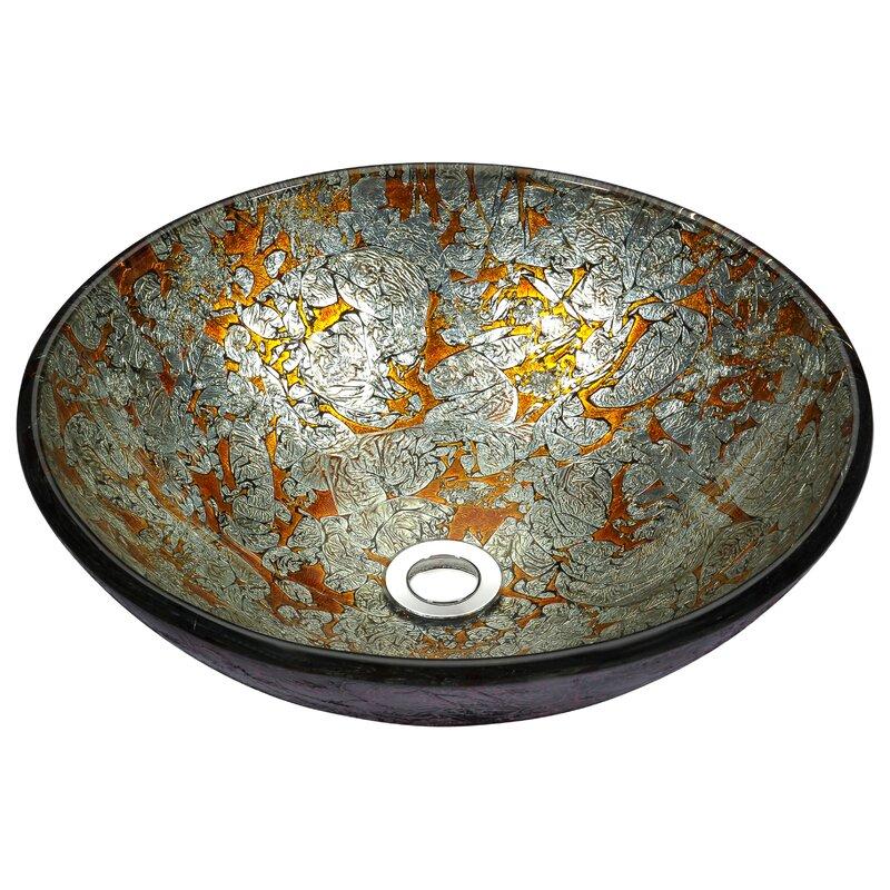 Anzzi Stellar Series Glass Circular Vessel Bathroom Sink Reviews Perigold