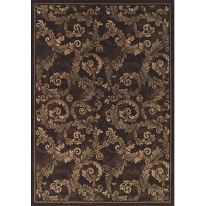 Arends Brown Sable Leaves Area Rug