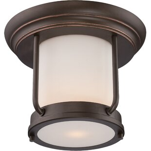 Tindall LED Outdoor Flush Mount by Breakwater Bay