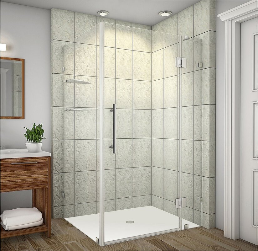 New Aston Avalux Gs 42 X 72 Square Hinged Shower Enclosure Is New Shower Enclosure To New Bathroom