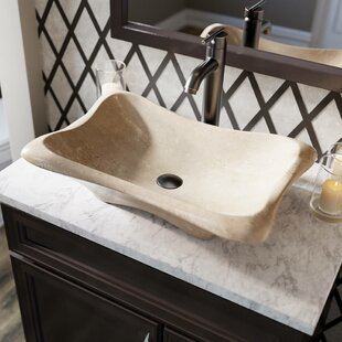Galaga Stone Rectangular Vessel Bathroom Sink with Faucet by MR Direct