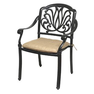 Nina Stacking Patio Dining Chair with Cushion (Set of 4) by Fleur De Lis Living