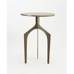 Danton Iron End Table by Bloomsbury Market