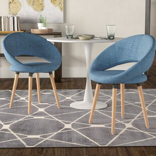 Glastonbury Fabric Modern Upholstered Dining Chair (Set of 2) George Oliver