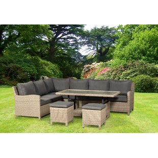 Currier 8 Seater Rattan Sofa Set By Beachcrest Home