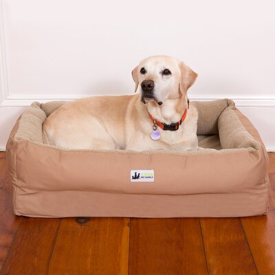 "EZ Wash Fleece Lounger Poly-Filled Dog Bed 3 Dog Pet Supply Size: Medium (39"" L x 27"" W), Color: Tan"