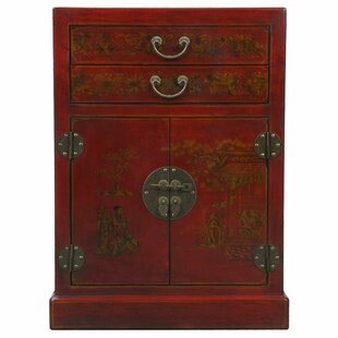 Handmade Oriental Antique 9 Bottle Floor Wine Cabinet by EXP D?cor