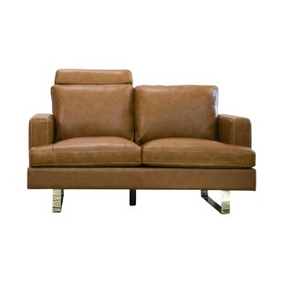 Charles Leather Loveseat