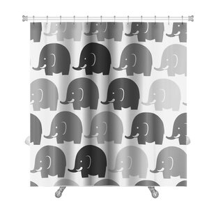 Animals Elephants Pattern Premium Single Shower Curtain