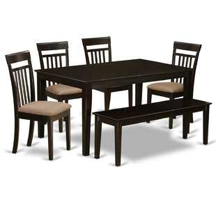 Capri 6 Piece Dining Set East West Furniture