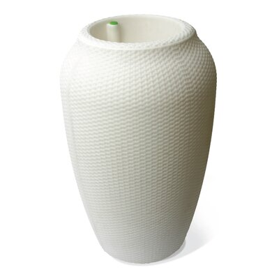 Thurman Wicker Self-Watering Plastic Urn Planter World Menagerie Size: 32 H x 20 W x 20 D, Color: White