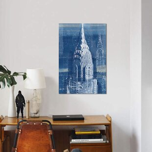 Building blueprints wayfair blueprint chrysler building nyc graphic art print on canvas malvernweather Gallery