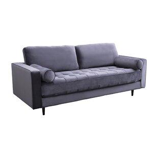 Mercer41 Leela Tufted Velvet Sofa