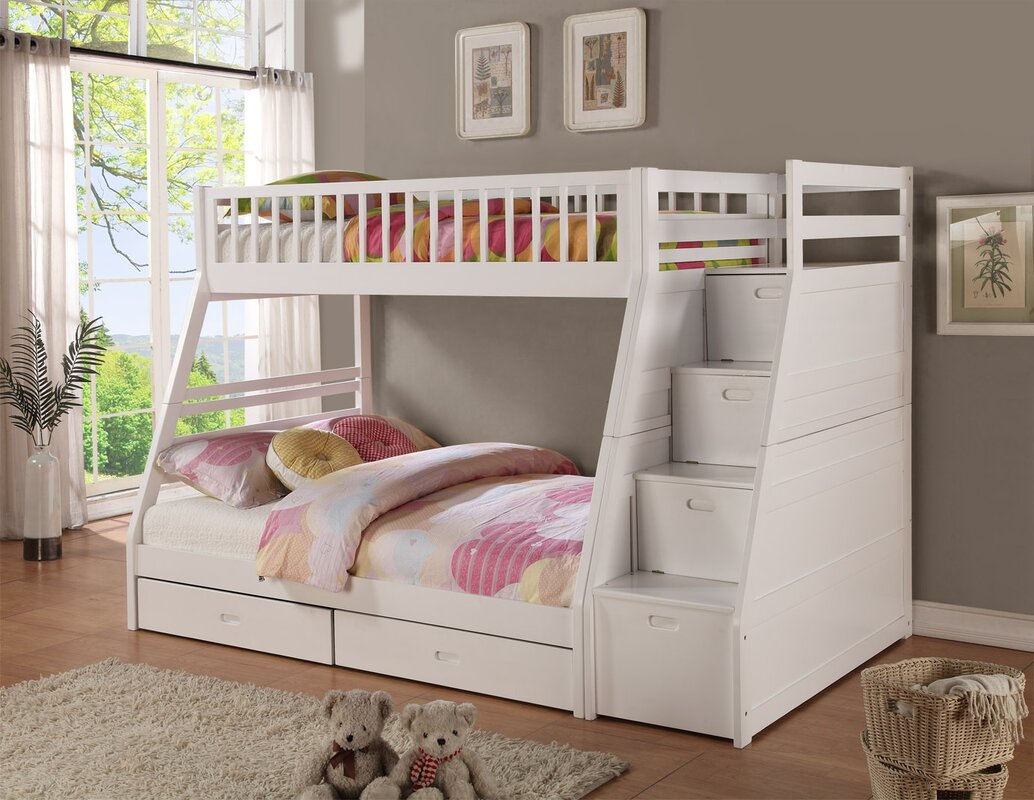 Viv Rae Pierre Twin over Full Bunk Bed with Storage Reviews