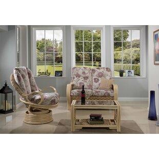Best Price Michaela 3 Piece Conservatory Sofa Set