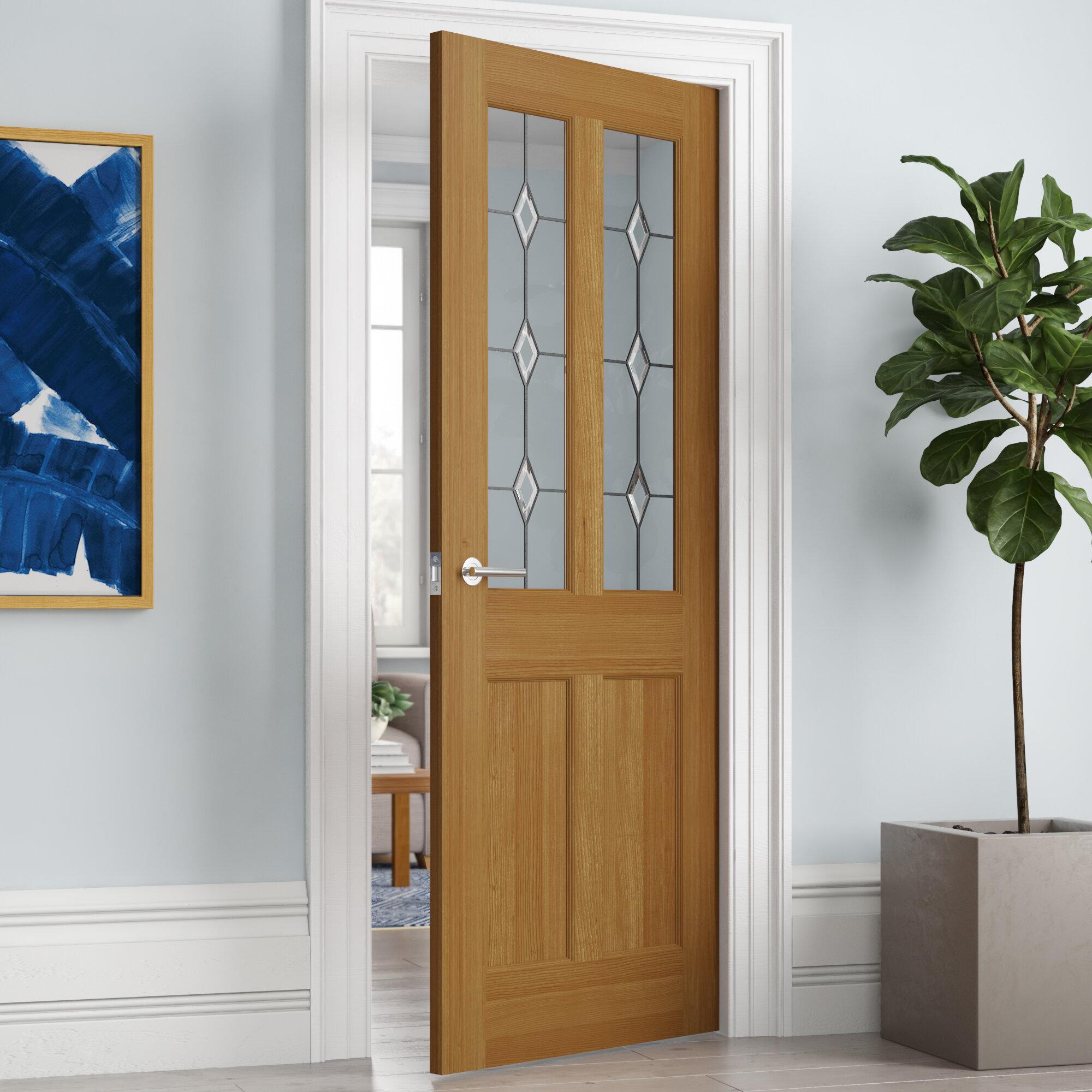 Solid Wood Internal Doors >> Derwent Solid Wood Oak Internal Door Unfinished