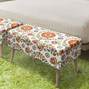George Oliver Valdovinos Upholstered Storage Bench