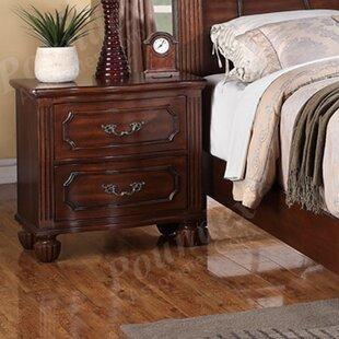 Astoria Grand Rockridge 2 Drawer Nightstand