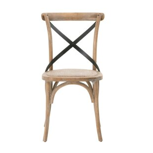 Bracamonte Rattan Solid Wood Dining Chair (Set of 2)
