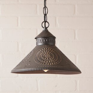 Gracie Oaks Wentworth Mansion Chisel 1-Light Cone Pendant