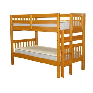 Mission Twin over Twin Bunk Bed by Bedz King