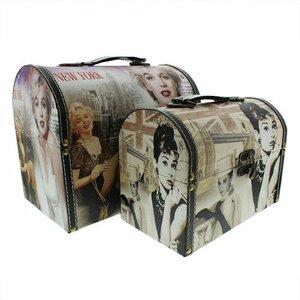 2-tlg. Box-Set Marilyn/Audrey aus Kunstleder von..