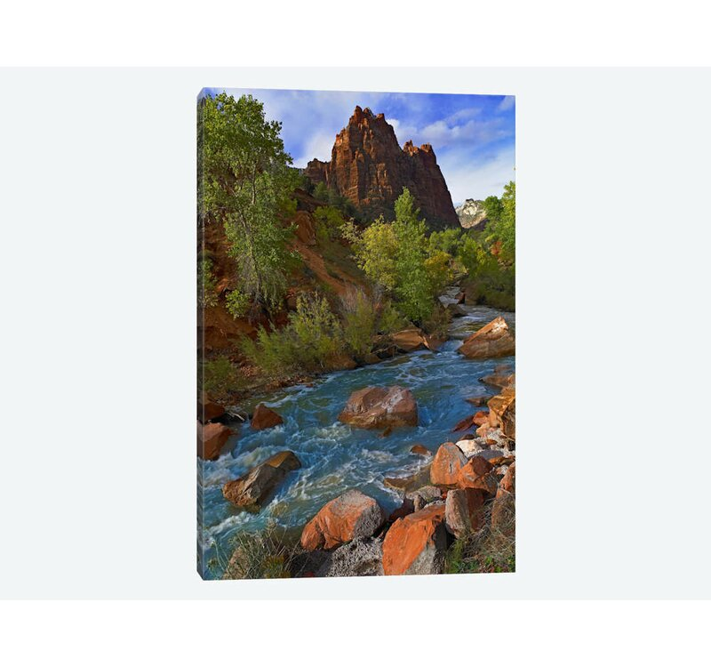 East Urban Home Mt Spry At 5 823 Foot Elevation With The Virgin River Surrounded By Cottonwood Trees Zion National Park Utah Ii Photographic Print On Canvas Wayfair