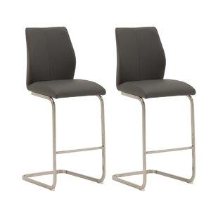 17 Stories Grey Seat Bar Stools
